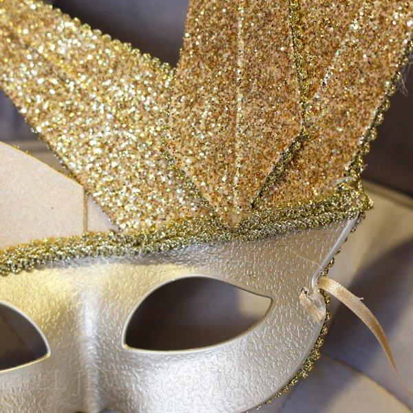 【即納可!】【GOODWILL】ベルギー・キラキラ☆レースの仮面舞踏会マスク(W26cm)