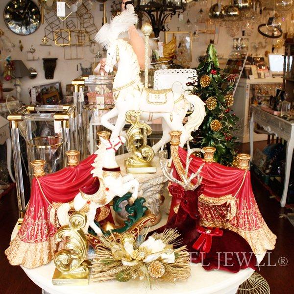 【完売】【GOODWILL】ベルギー・キラキラ☆ホワイトホース(H53.5cm)