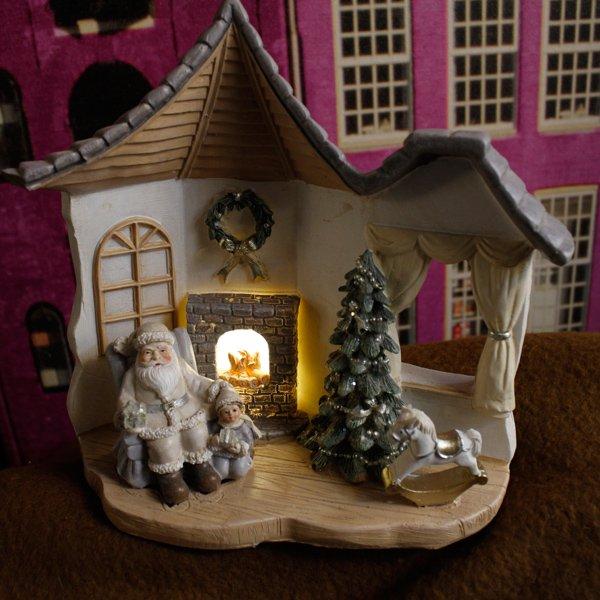 【即納可!】クリスマス♪サンタルームLEDオブジェ(H16.5cm)