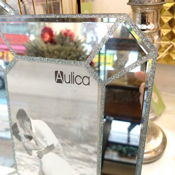 【完売】【フランス-Aulica-】ガラスフォトフレーム・クリア L(W20.5×H25.8cm)