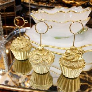 【即納可!】カップケーキカードスタンド・ゴールド 全3種(H9.5cm)