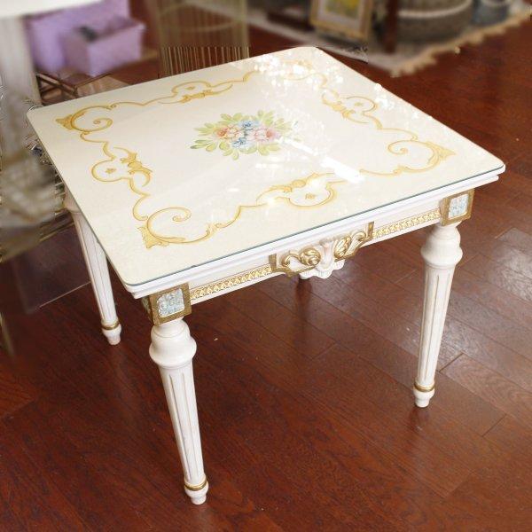 【70%OFF】【即納可!】イタリア高級輸入家具 【SILIK−シリック】 サイドテーブル(W56.5×D56.5×H51cm)
