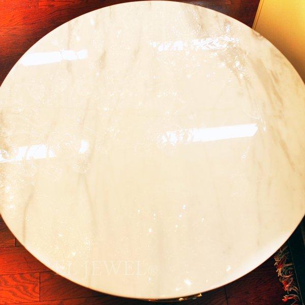 【82%OFFセール】【即納可!】 大理石風サイドテーブル(Φ60×H46cm)
