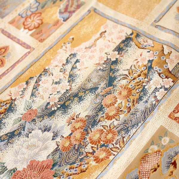 【即納可!】西陣織・テーブルセンター 花2(約30×67cm)
