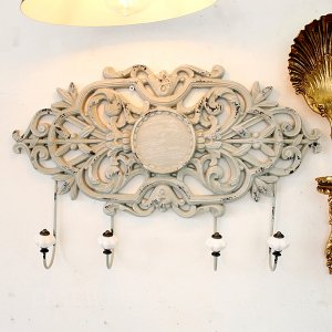 【即納可!】【Mathilde M】フランス・壁掛けフック4連(W53×D9×H35cm)