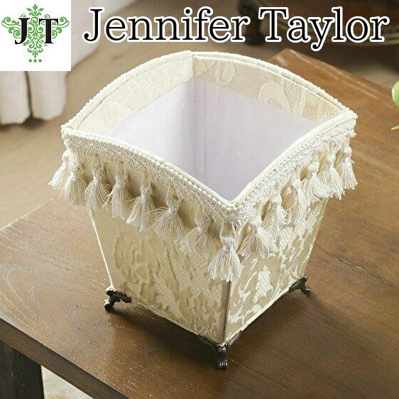 【即納可!】【Jennifer Taylor】脚付ダスト BOX  レオーネホワイト(20X20X22Hcm)