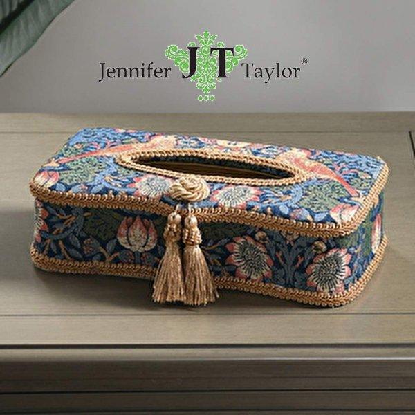 【Jennifer Taylor】ティッシュボックス Strawberry Thief (26X12.5X6.5Hcm)