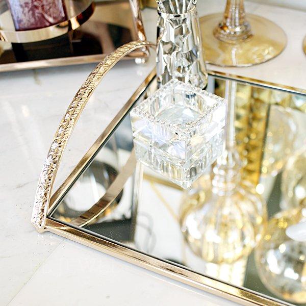 【即納可!】【フランス-Aulica-】ゴールドハンドル・ミラートレーS(32.5x20xH6.5cm)