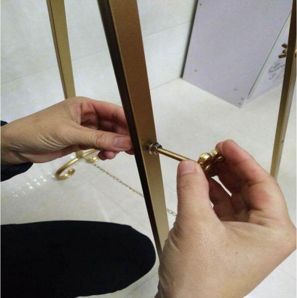 【即納可!ゴールドのみ】ヨーロピアンスタイル ディスプレイスタンド イーゼル(W45×H150×D55cm)