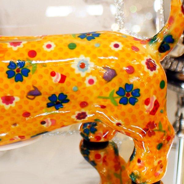 【即納可!】【Pommepidou】ベルギー・マネーバンク「BRUCE」ドッグ・オレンジ・M(W16.5×D10×H16.5cm)