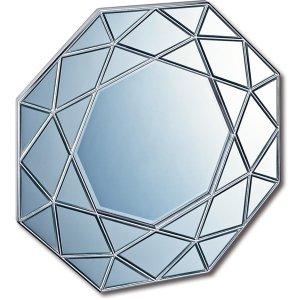 ダイヤモンド アート ミラー(アンティークシルバー)(W80×80cm)
