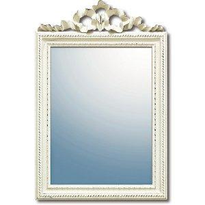 グレース アート ミラー「ガリア」アンティークホワイト(W37×H56cm)