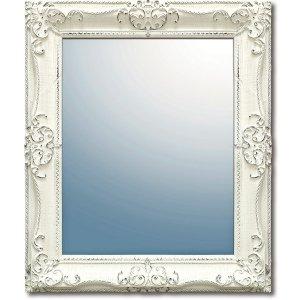 グレース アート ミラー「アーサーL」アンティークホワイト(W55×H65cm)