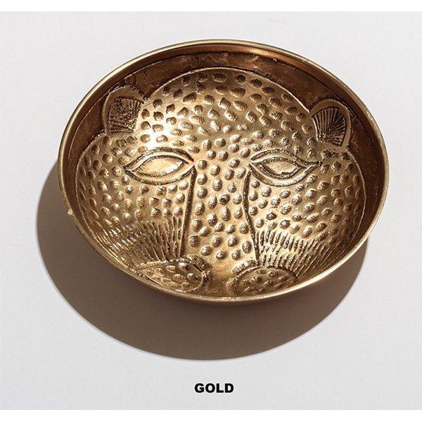 【即納可!】ブラスレオパードプレート・ゴールド(φ11cm)