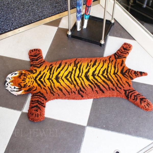 【完売】ベビータイガーの玄関マット(W80×D51×H1.5cm)
