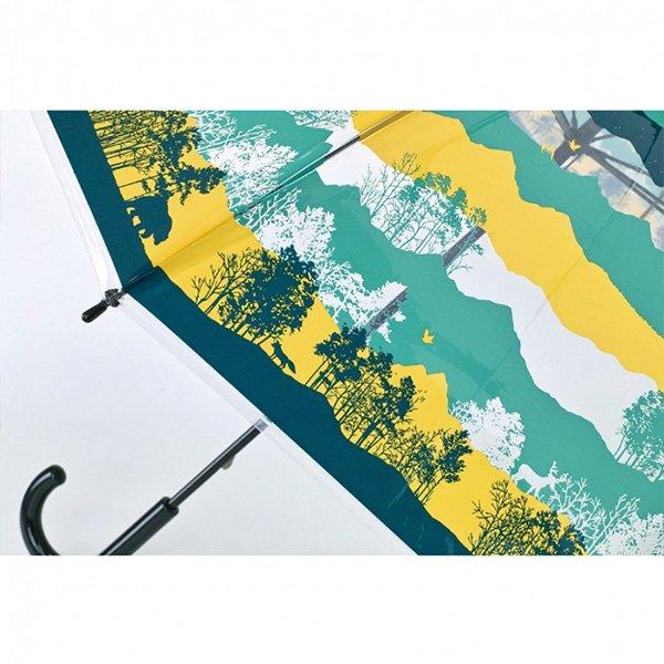 【即納可!】ハッピークリアアンブレラ「フォレスト」ビニール傘(φ100×H81cm)