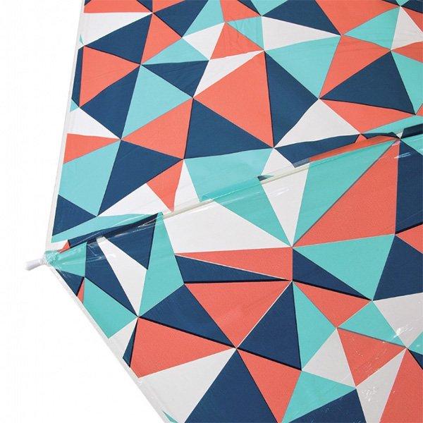 【即納可!】ハッピークリアアンブレラ「プリズム」ビニール傘(φ100×H81cm)