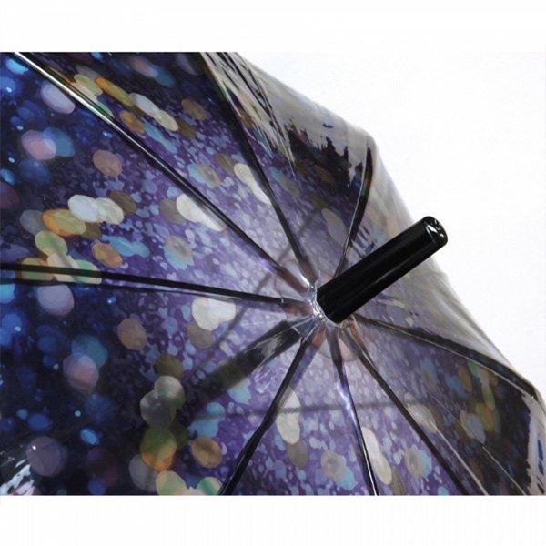【即納可!】ハッピークリアアンブレラ「イルミネーション」ビニール傘(φ100×H81cm)