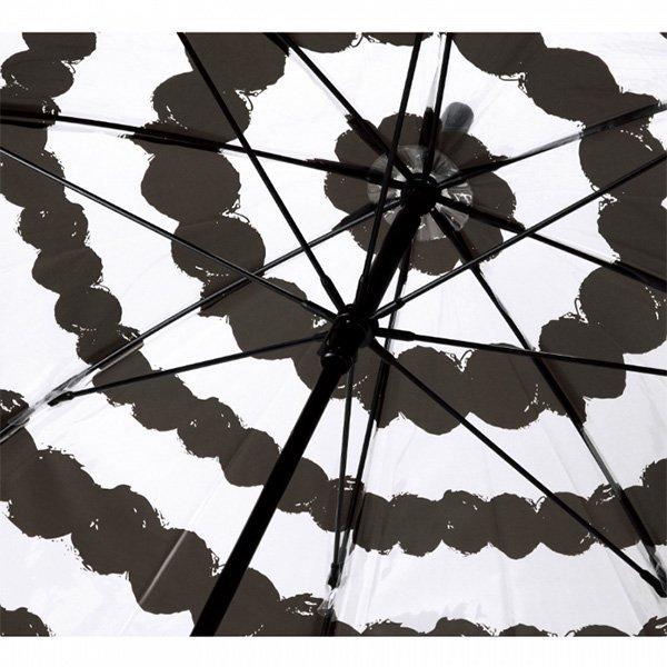 【即納可!】ハッピークリアアンブレラ「ドットボーダー」ビニール傘(φ100×H81cm)
