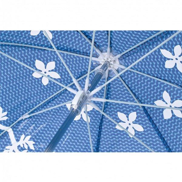 【即納可!】ハッピークリアドームアンブレラ「ハワイアン」ビニール傘(φ840×H86cm)