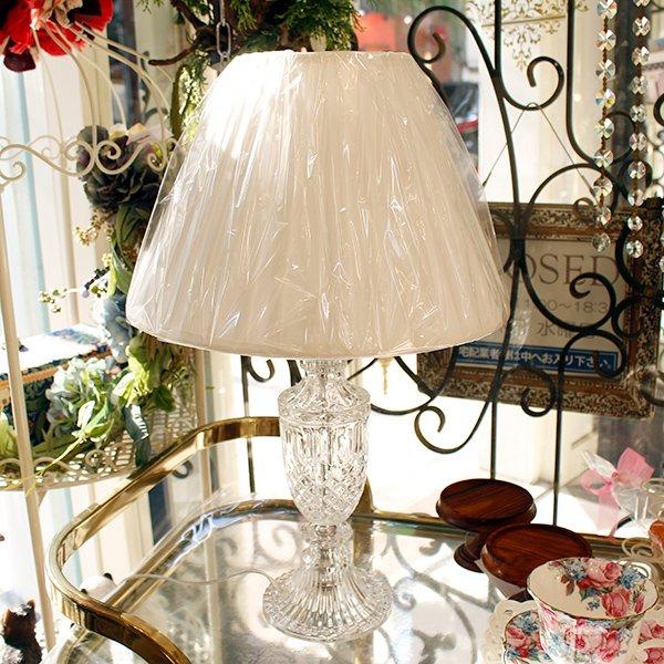 【即納可!】【COVENT GARDEN】ガラスのカッティングが美しい シェード・テーブルライト「ハンプトン・ガラスランプ」(H55cm)