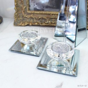 【即納可!】【フランス-Aulica-】キラキラ☆ガラスキャンドルホルダー(W9×H4cm)