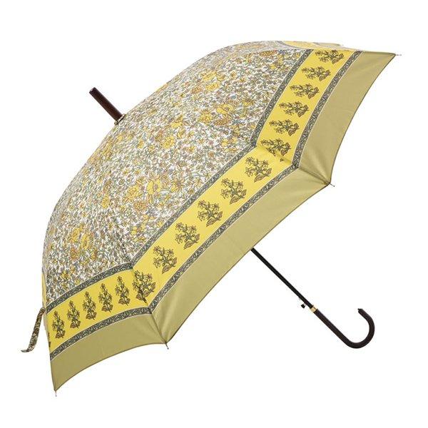 インド更紗パターン傘・雨晴兼用・イエロー(φ100cm)