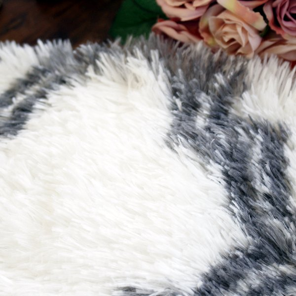 【即納可!】ふわふわ♪バスマット・グレー(60×42cm)