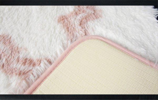 【即納可!】ふわふわ♪バスマット・ピンク(60×42cm)
