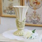 <b>【入荷未定】</b>【フラワーベース】ロココ調カップ(花器)「Greece」ホワイト(φ12cm)