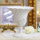 <b>【入荷未定】</b>【フラワーベース】ロココ調カップ(花器) ホワイト
