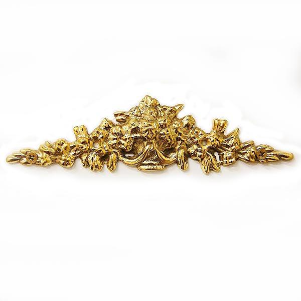 【即納可!】ロココ ・スタイル♪アンティーク調  家具装飾用プレート ゴールド(W14×H3.5cm)