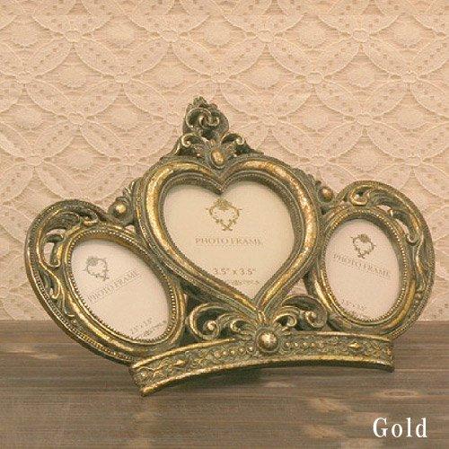 【入荷未定】 【Royal Salon】3ウインドウ フォトフレーム (ゴールド)