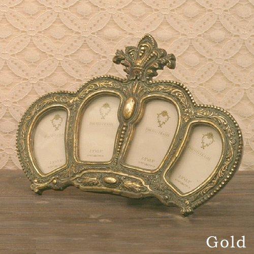 【入荷未定】 【Royal Salon】4ウインドウ フォトフレーム (ゴールド)