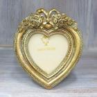 <b>【入荷未定】</b>【Royal Salon】フラワーハート・ミニフォトフレーム (ゴールド)