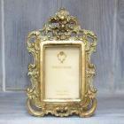 <B>【入荷未定】</B>【Royal Salon】フラワーウェーブ・ミニフォトフレーム (ゴールド)