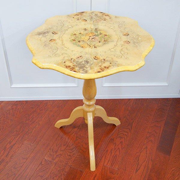 【ワケ有セール!】イタリア製 象嵌が美しい ラウンドコーヒーテーブル