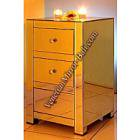 <B>【ミラー家具】</B>Mirrored Furniture 3段チェスト