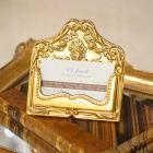 【入荷未定】イタリア製 名刺やショップカード立てに♪真鍮製カードスタンド (ゴールド)