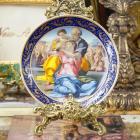 <B>【即納可!限定品】</B>フランス製 リモージュ絵皿 ミケランジェロ作「ルネサンス」φ25cm