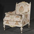 イタリア製 高級輸入家具<b>【BROGIATO】</b>PLATINUM シリーズ 1Pソファー(W75×D90×H104cm)