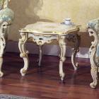 イタリア製 高級輸入家具<b>【BROGIATO】</b>NABUCCO シリーズ サイドテーブル(W55×D55×H48cm)