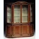 イタリア製 高級輸入家具<B>【BROGIATO】</B>DONATELLO シリーズ 4ドアガラスキャビネット(W190×H232)