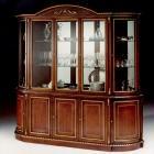 イタリア製 高級輸入家具<B>【BROGIATO】</B>DONATELLO シリーズ 5ドアガラスキャビネット(W240×H238cm