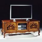 イタリア製 高級輸入家具<b>【BROGIATO】</b>LOUIS XV シリーズ 象嵌テレビボード(W165×D48×H65cm)