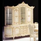 イタリア製 高級輸入家具<b>【BROGIATO】</b>LOUIS XV シリーズ 5ドアガラスキャビネット