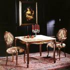 イタリア製 高級輸入家具<b>【BROGIATO】</b>LOUIS XV シリーズ 大理石天板センターテーブル