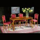 イタリア製 高級輸入家具<b>【BROGIATO】</b>LOUIS XV シリーズ ダイニングテーブル(W150×D80×H76cm)