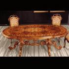 イタリア製 高級輸入家具<b>【BROGIATO】</b>LOUIS XV シリーズ ダイニングテーブル