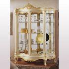 イタリア製 高級輸入家具<b>【BROGIATO】</b>2ドアガラスキャビネット(W150×D50×H190cm)